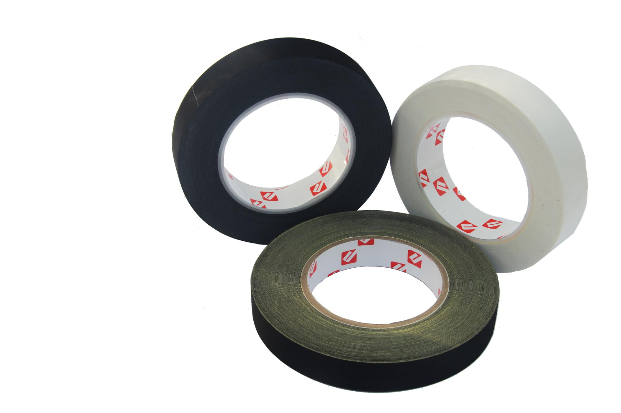 Black and White Single sided Tape Flame Retardant Insulation Acetate Cloth Tape