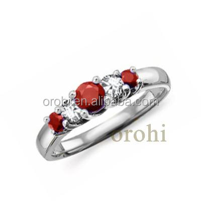 Fashion Two Stone With 18k Solid Gold Gemstone Ring Designs For ...