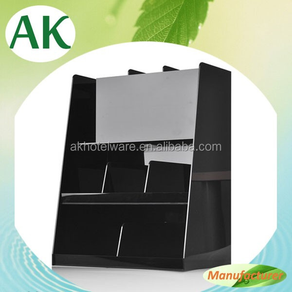 Plastic Cup Stent Condiment Frame Custom Acrylic Coffee Paper Cup Dispenser/Disposable Black acrylic cup holder