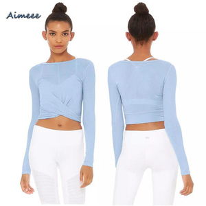 Long Sleeves Workout Clothes Women Sports Clothing Yoga Fitness Active Wear