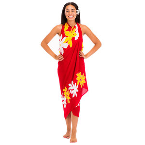 a91c1adea7ba1 New Design Floral Hand Painted Pareo Swimwear Bikini Cover up Rayon Sarong  From Indonesia