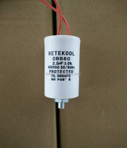 450V CBB60 Commercial ac motor Run Capacitor with Wire for Refrigerating Cabinets