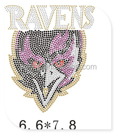 Baltimore Ravens rhinestone transfer iron on football team