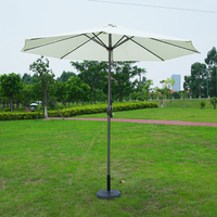 Foshan umbrella supplier aluminum garden parasol with marble basic used home backyard umbrella
