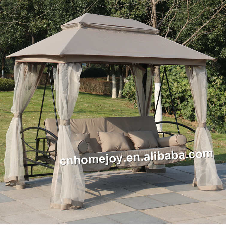 Luxury 3 Seater Swing Gazebo With Bed