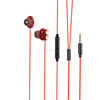 Wholesale newest double driver ear phones for iphone headphone 3.5mm connector wired earphone with microphone