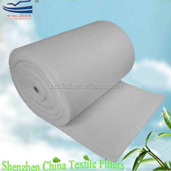 High dust loading painting booth ceiling cotton air filter