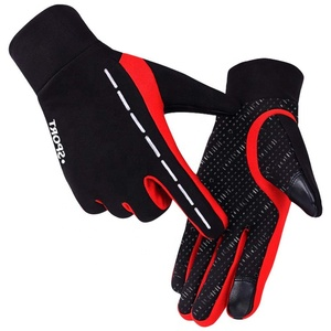 Outdoor Winter Cycling Full Finger Keep Warm Ski Windproof Running Cold Weather Riding Sports Gloves