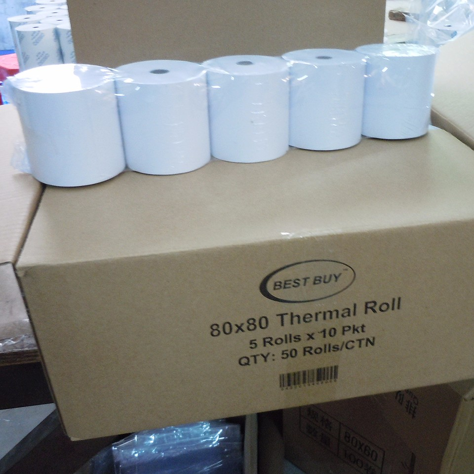Thermisch Papier 80X80 Mm 57X50 Mm Kassa Ontvangst Roll Voor Pos