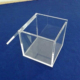 Small Square Clear Acrylic Gift Box Crystal Perspex Boxes With Hingled Lids