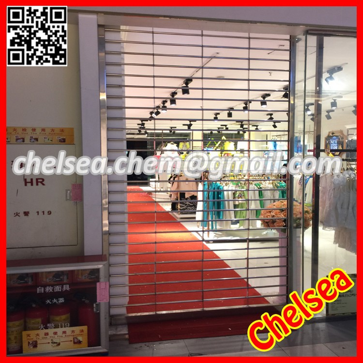 High grade security stainless steel automatic grill rolling shutters