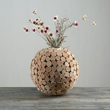 Creativeround Bois Flotté Bouteille Forme Faux Fleur Vase Pour ...