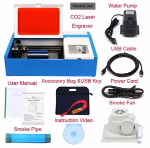 40W Engraver Cutter CO2 USB Laser machine 3020 Laser Engraving Cutting Machine for sale