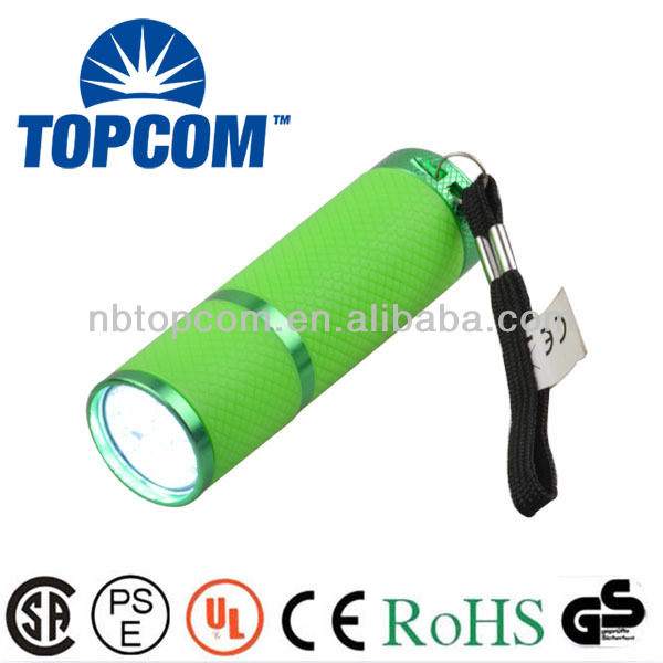 Waterproof Colorful 9 Led Flashlight With Rubber Casing Firefly ...