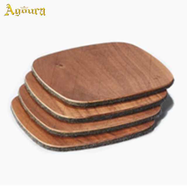 High quality wooden Felt coaster in stock