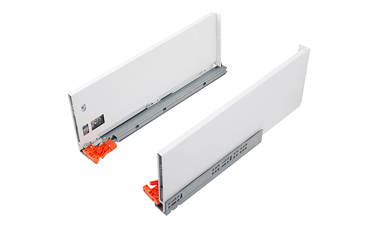 Jieyang full extension soft close concealed kitchen cabinet 35mm drawer slide