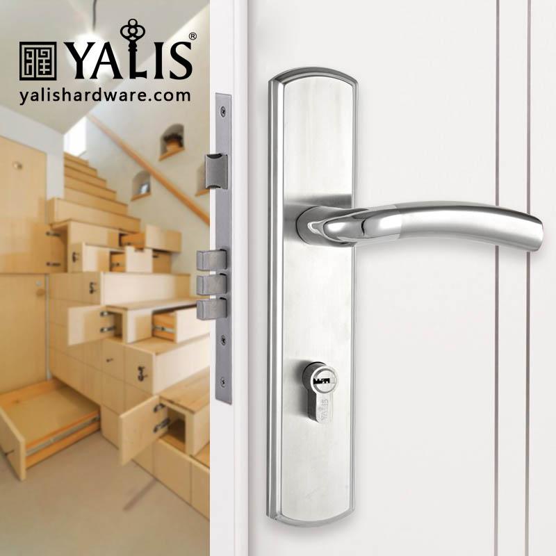 Stainless steel mortise door handle plate set, View stainless steel ...