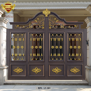 the newest metal security fence door indian house main gate designs garden gate