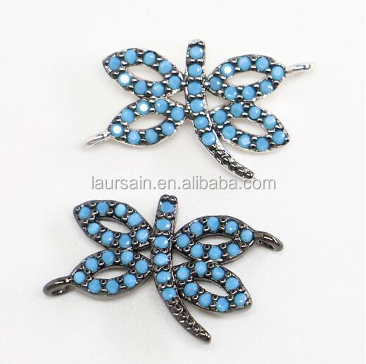 LS-D6262 Wholesale Cubic Zircon CZ Paved Micro Butterfly Connector