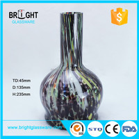 Wholesale office decoration flower /Colored painted/ handmade glass vase