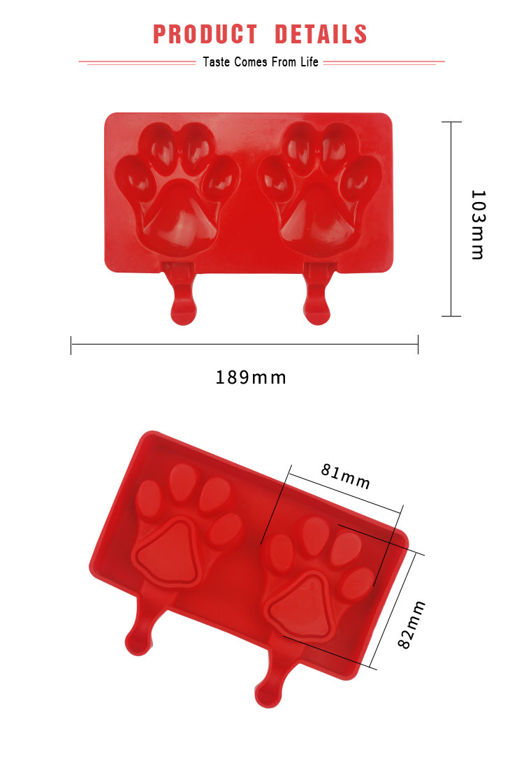 Bear's Paw Shape Cake Mold 3D Popsicle Ice Cream Silicone Mold