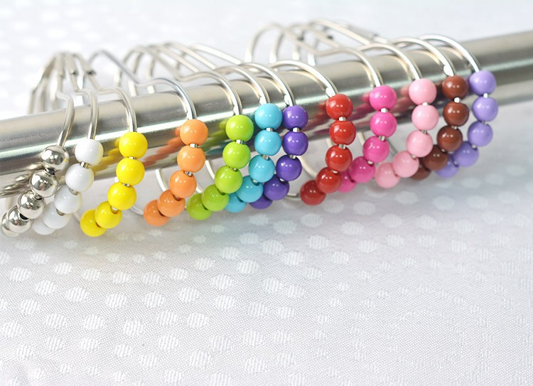 Plastic Beads Bathroom Shower Curtain Hooks,Footprints Shaped ...