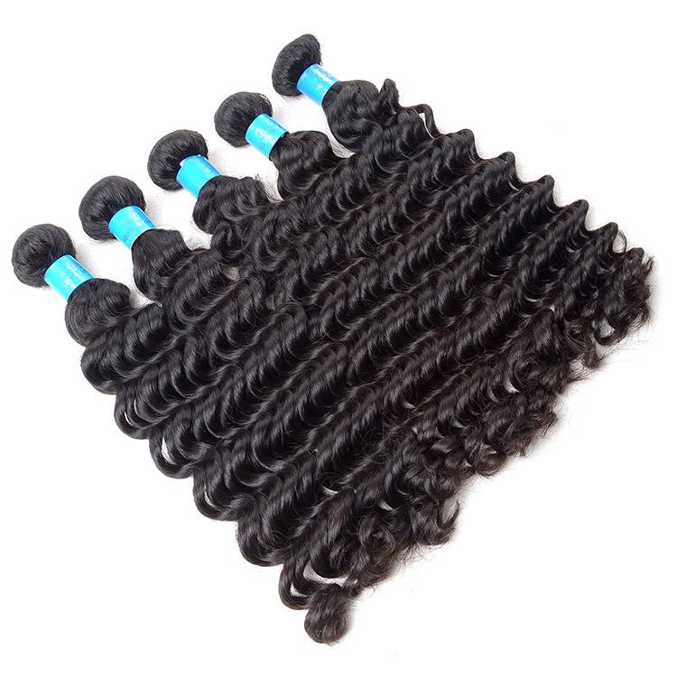 KBL charming guangzhou brazilian deep wave hair, 100% no shedding virgin hair extension <strong>human</strong>