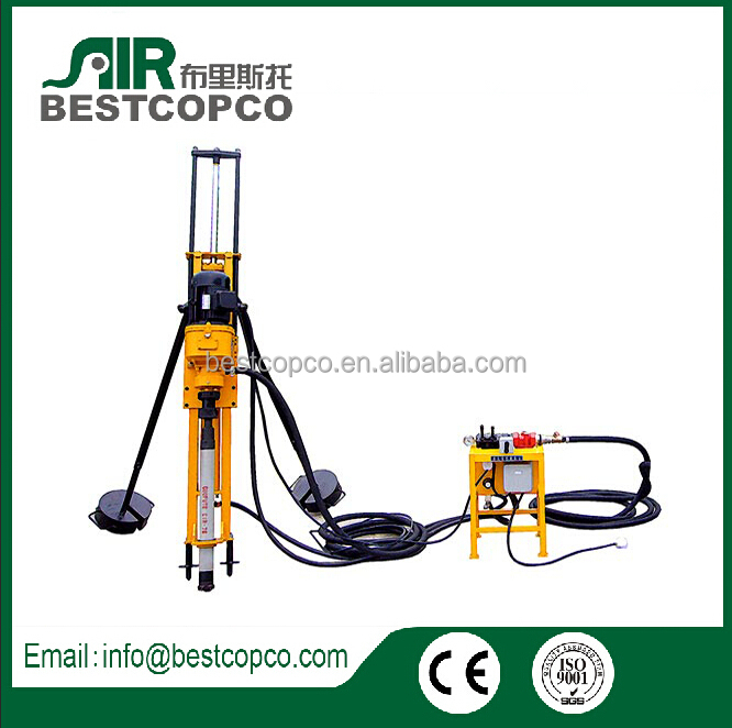 15 meter depth HQD70 electric driven DTH drill Rock drill machine