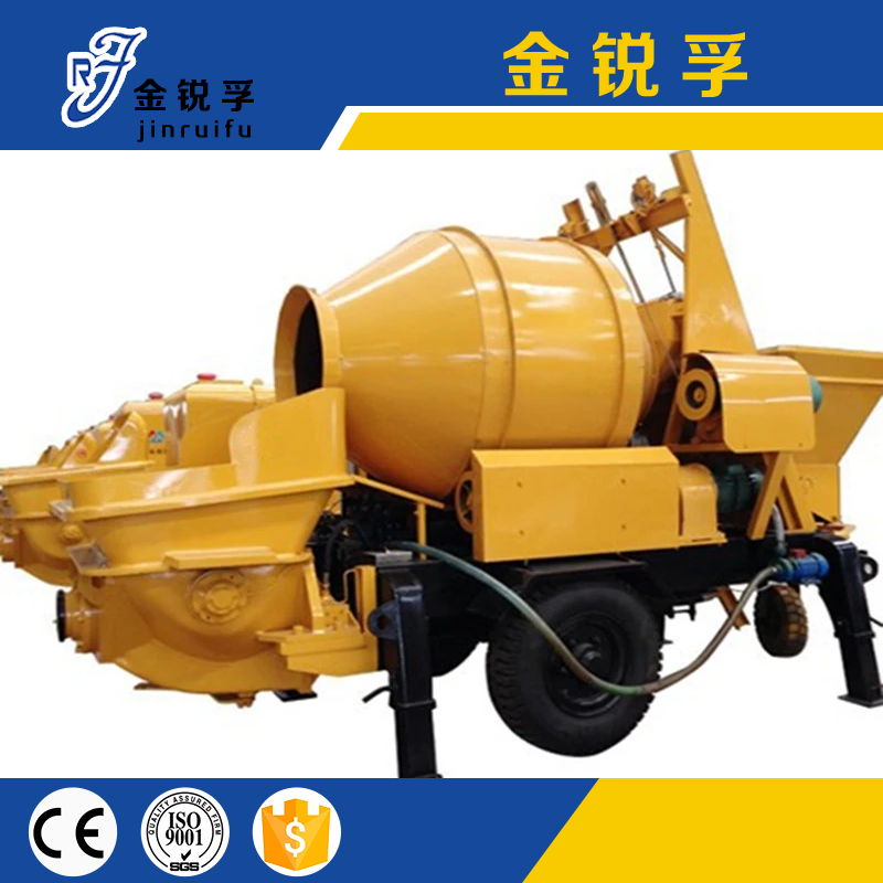 Trailer Mounted Diesel Engine Concrete Mixer With Pump Seller