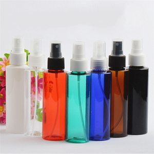 IBELONG Wholesale Cylinder Shape Clear White Amber Blue Green Red PET Plastic Mist Spray Bottles 120ml