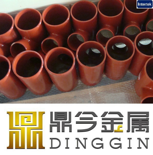 Epoxy powder coating EN877 cast iron pipe fittings wye