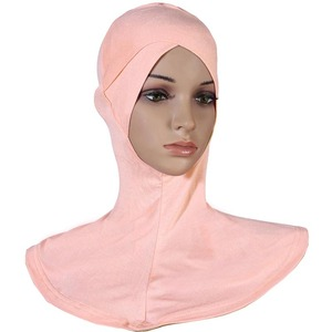 New Style front cross UnderScarf Inner Cap Bonnet Hijab Neck Cover Soft Scarves muslim Women Hijab 20 colors
