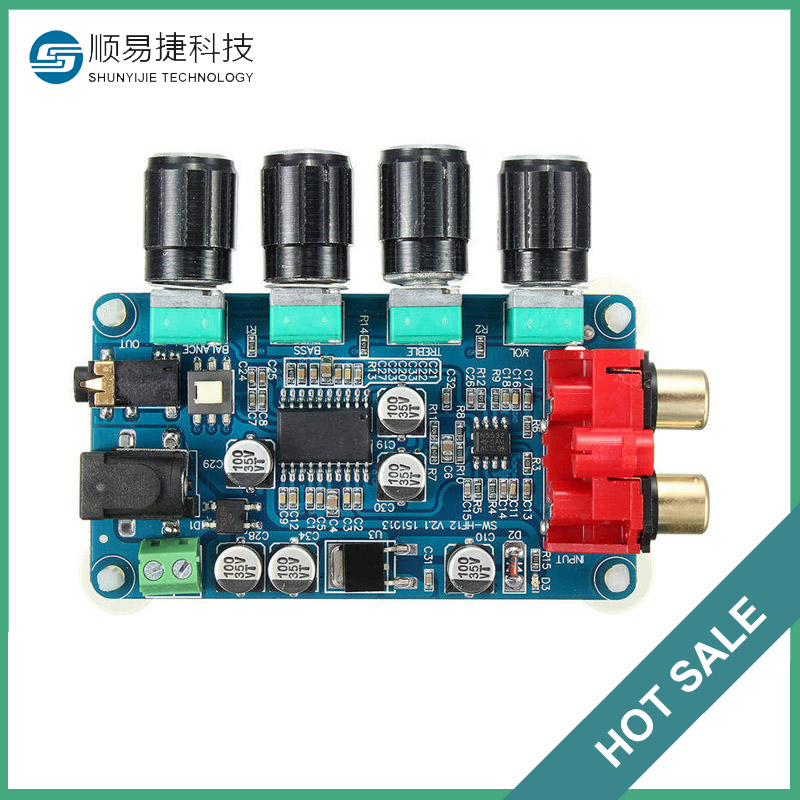 Different Quality LM1036 + NE5532 Stereo Preamplifier Tone Board DIY Amplifier Active Components Durable in use