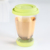 Eco friendly insulated glass coffee travel mug with lid