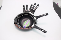 As seen on tv authentic rotating bbq aluminum non stick professional Italy fry pan