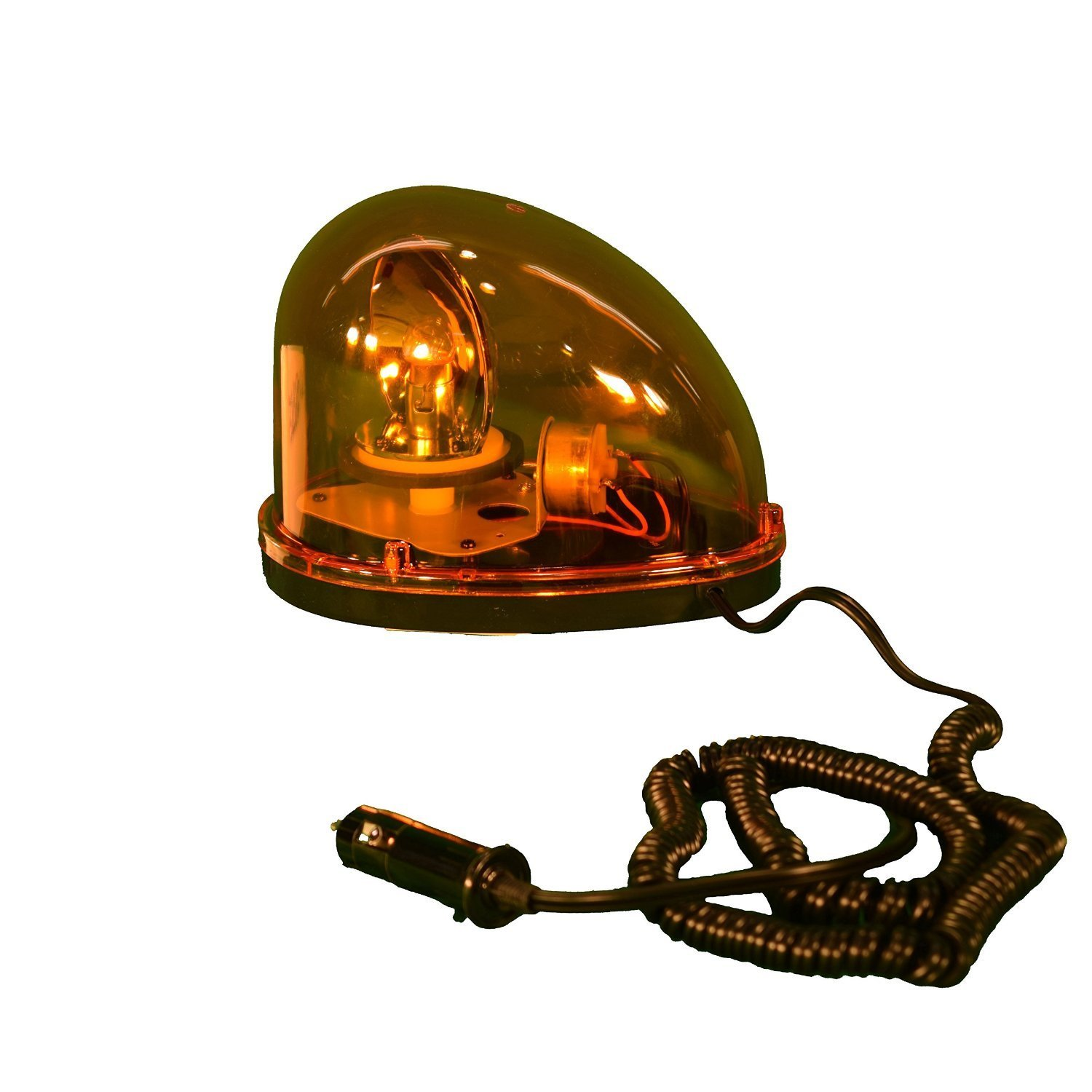 5 Diameter x 5 Height Amber Fortune PL-300AJ Battery Powered Ultra Bright LED Standard Police Beacon