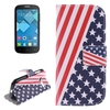 China Supplier wallet style leather phone cover for alcatel one touch pop c5