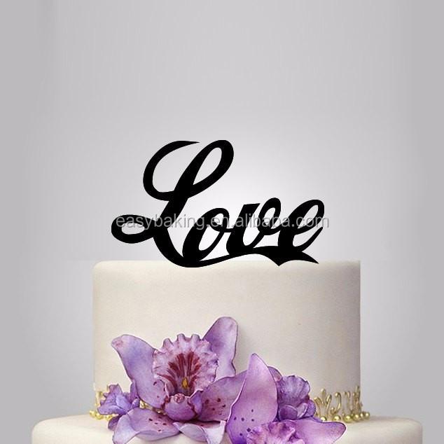 ECT-038 Love wedding cake topper custom design, birhday cake topper.jpg