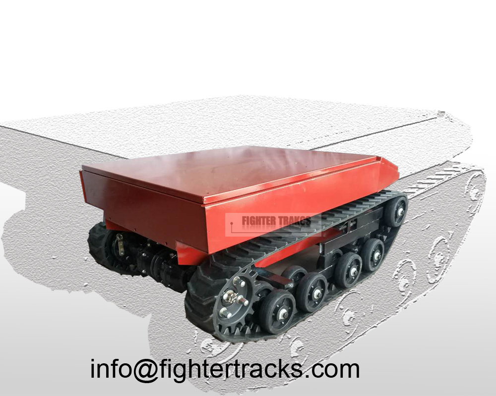 Wireless Remote Controlled Electrical Rubber Track Robot Chassis