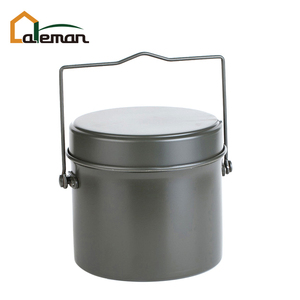 Round Shaped Army Style 3 piece Mess Kit Set, Aluminum Outdoor Camping Lunch Box OEM Orders Accepted
