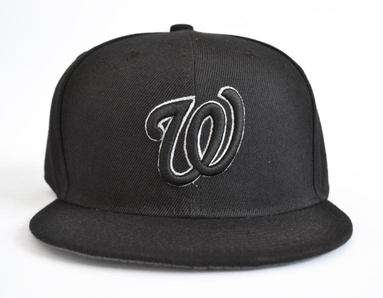 Get Quotations · Men s Washington Nationals Snapback Hats Sport classic  Flat baseball adjustable Caps Full Black Color Letter W 669726b52627