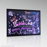 Erasable message LED board flashing sign board with fluorescent markers