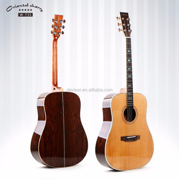 new style rouned acoustic guitar made of cedar and nabi wood we make