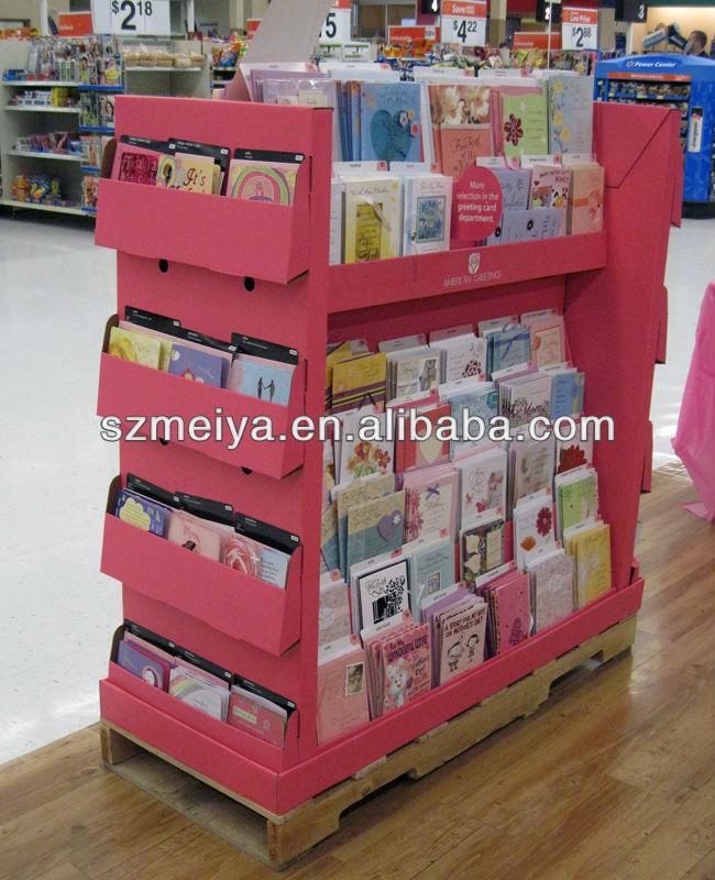 Cart n pallet supermercado estante de exhibici n para la for Estantes de carton
