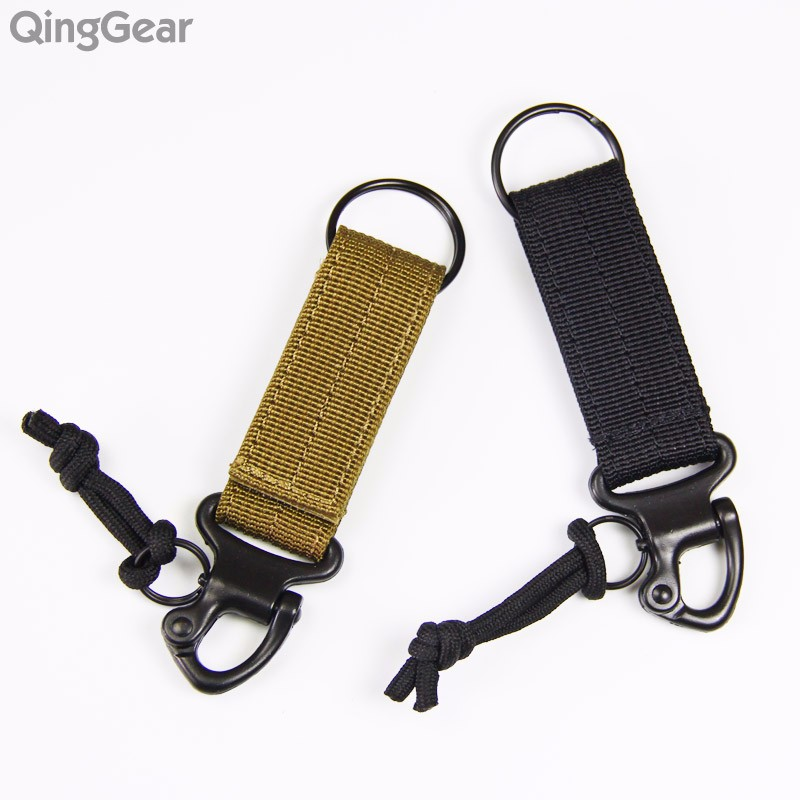 Molle Hanger nylon webbing backpack Hook carabiner camping travel backpack kit gear clasp