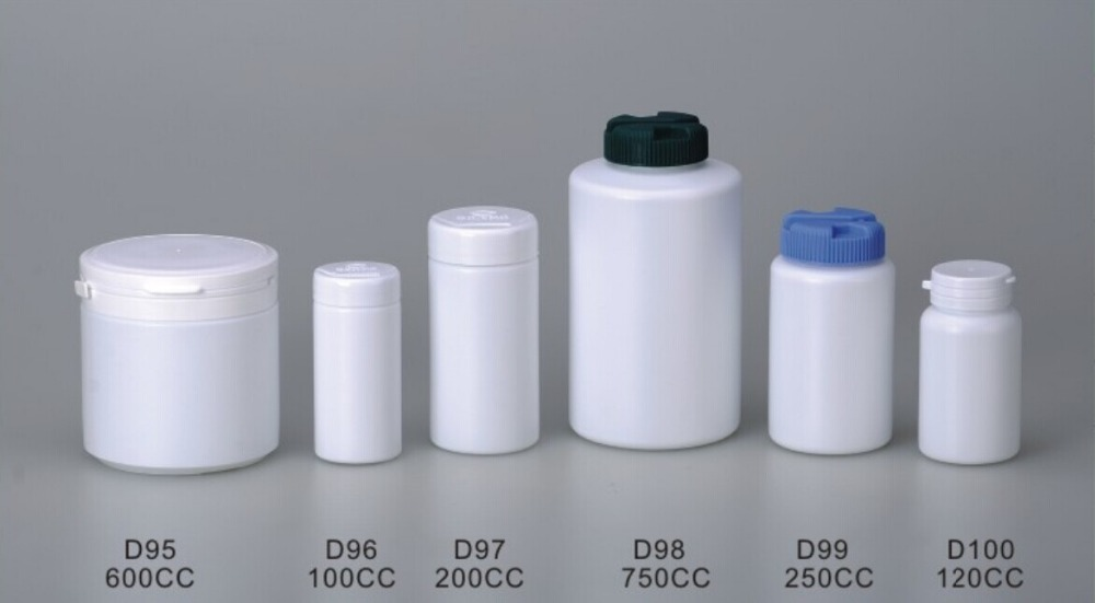 8 Oz Food Grade White Plastic Powder Bottle With Tamper