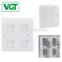 Bangladesh Customized Factory with best price of 4 gang 1 way light switches 220V-250V