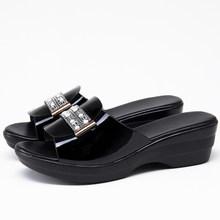 Женские шлепанцы на каблуке 4,5 см GKTINOO, Летние повседневные сандалии, 2020(Китай)