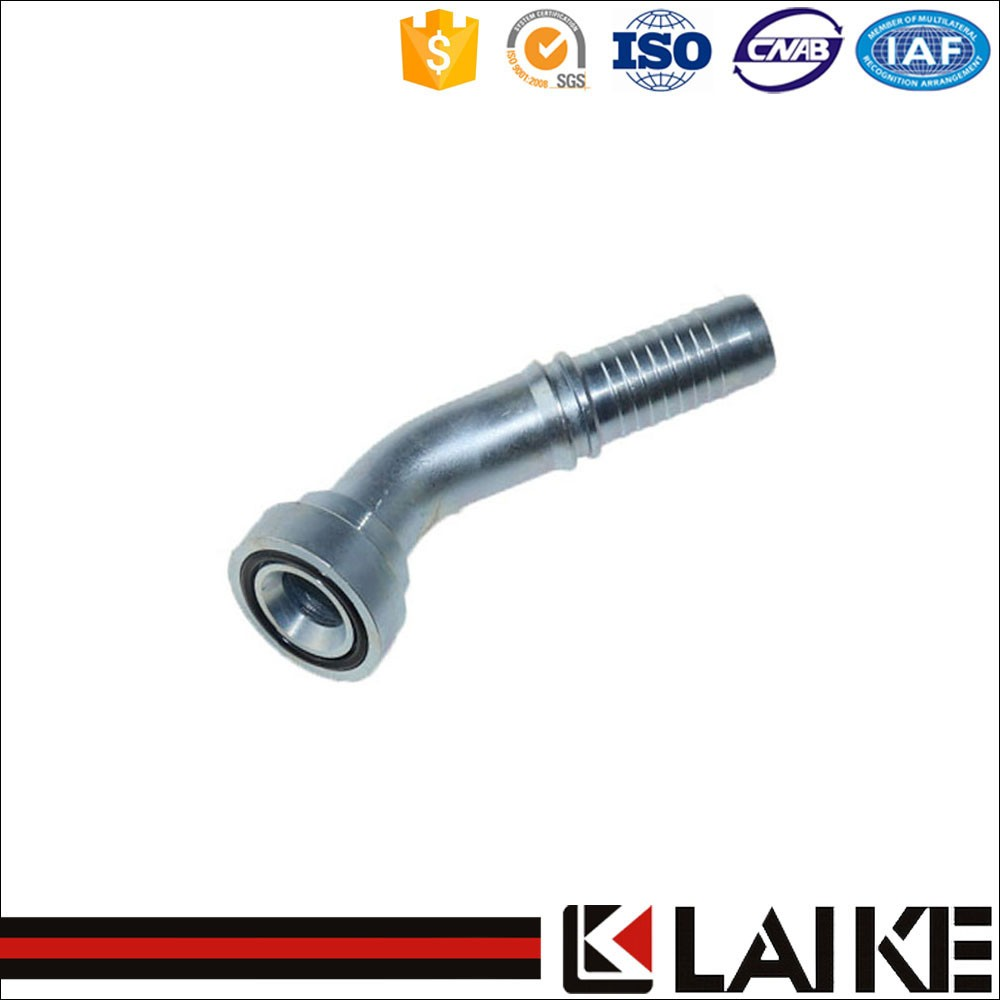 High Pressure 45 Degree Flange 9000 PSI Hydraulic Hose Fitting