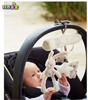 baby toy plush toy cute rabbit and little star stuffed toy with ringing bell